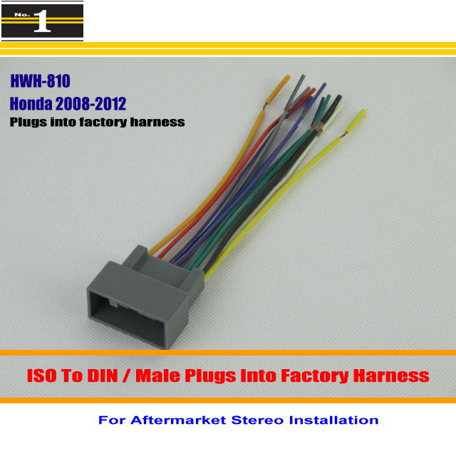 aliexpress com buy car wiring harness for honda fit insight aliexpress com buy car wiring harness for honda fit insight odyssey pilot car stereo adapter connector plugs into factory harness male din from