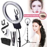 NG 40C 40W 5400K Studio Ring Light Camera Phone Holder Diffuser Stand Bag Kit For Makeup