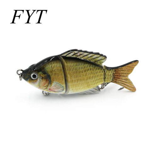 wobblers pesca lifelike fishing lure 10 cm 22g lento de 3 segmento swimbait crankbait hard