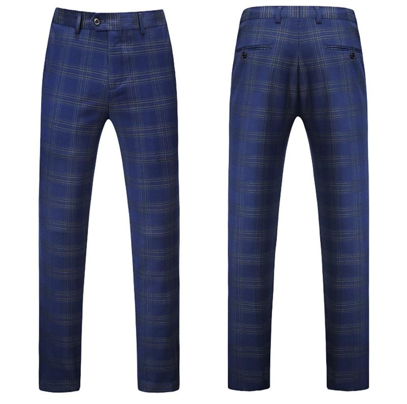 Bande Hommes Mariage veste Convient Costumes 5xl Plein Pantalon 2018 Printemps D'affaires De Mode Robe Costume 4xl Bleu Gilet Classique M qqgI7