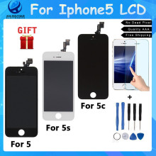 Grade AAA No Dead Pixel LCD Display for Iphone5 5s 5c LCD Touch Screen Digitizer Assembly Replacement LCDs black  white