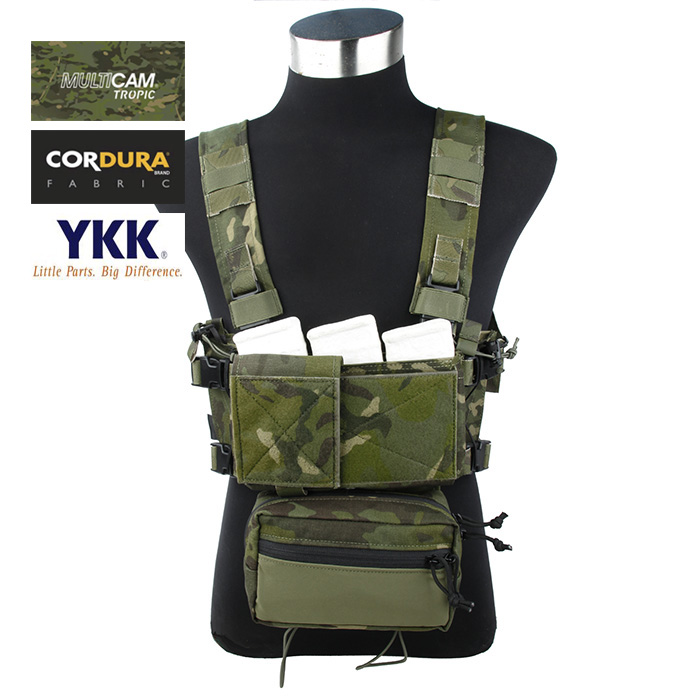 Cordura Multicam Tropic SS Fight Micro Chest Rig Light Weight Combat Tactical Rig Set(STG051187) цена 2017