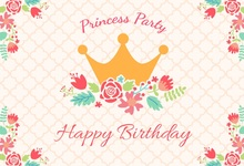 Laeacco Princess Happy Birthday Flower Crown Baby Photography Backgrounds Customized Photographic Backdrops For Photo Studio
