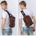 New Fashion Men's Vintage Crossbody Bag High Quality Chest Bag Casual Cool Messenger Bags Multifunctional Commercial Simple Bag