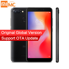 Orijinal Küresel Sürüm Xiaomi Redmi 6 3 GB 32 GB Smartphone MTK Helio P22 Octa Çekirdek 5.45
