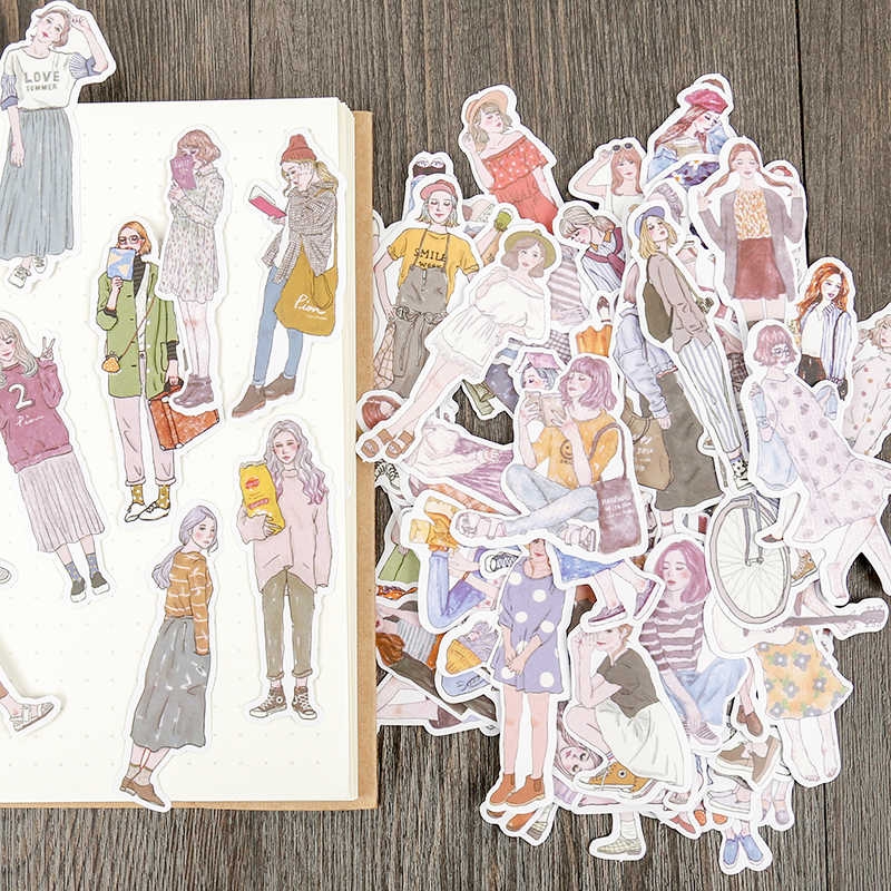 100pcs/pack New Women Hai  Mori Girls  stickers handbook Stickers  DIY Craft Photo Albums Sticker/Scrapbooking Stickers