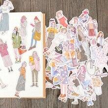 100 шт/упак новые женские стикеры hai mori girls Стикеры для