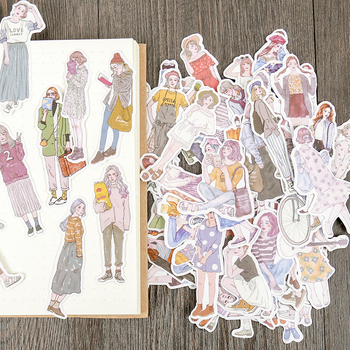 100pcs/pack New Women Hai  Mori Girls stickers handbook Stickers DIY Craft Photo Albums Sticker/Scrapbooking - discount item  45% OFF Stationery Sticker