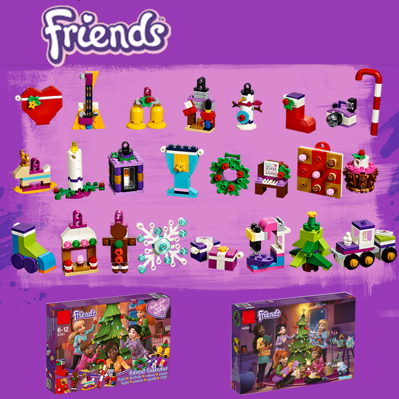 11014 Girl Friends Advent Calendar Building Block Thanksgiving Bricks Toys Compatible With Legoings Friends 41353 Christmas Gift