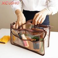 Portable Transparent PVC Travel Storage Bag Small Handbag Waterproof Cosmetic Bags Cases Travel Toiletry Bag Organizer