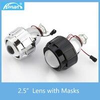 RONAN 2 5 Bi Xenon Projector Lens 8 1version For H1 Bulb Car Styling Headlight Retrofit