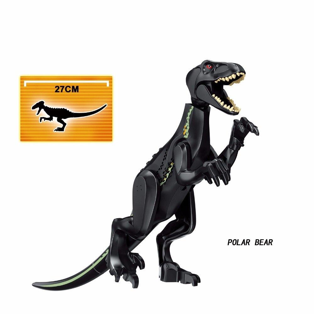 ขายส่ง 16pcs หมีขั้วโลก carnotaurus triceratop Dinosaur T rex Building Blocks อิฐของขวัญเด็กของเล่นเด็กการศึกษาชุด-ใน บล็อก จาก ของเล่นและงานอดิเรก บน   2