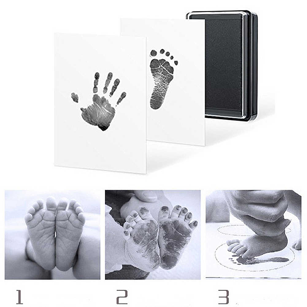Baby Handprint and fingerprint ink pad 100% non-toxic safe fingerprint hand memories and fingerprint toy manufacturers gift