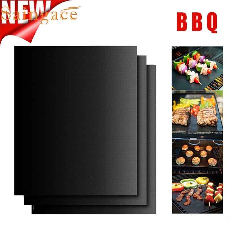 2018 New Quality 3PCS Non-Stick BBQ Magic Grill Mat Perfect for Baking on Gas Heat Resistant D1028