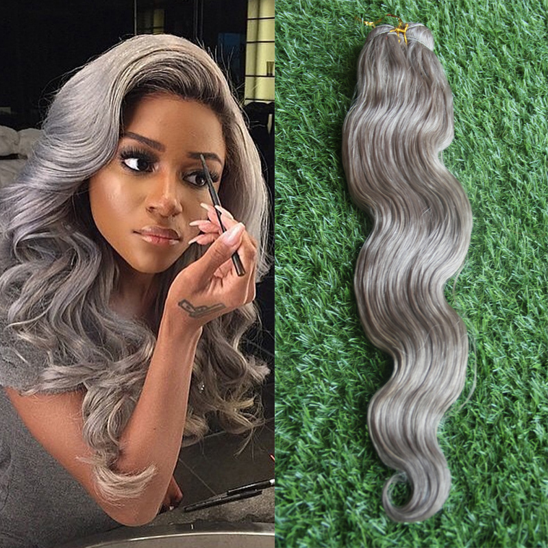 Gray weave human hair images hair extension hair highlights ideas fashion grade 6a raw unprocessed 100 natural wave silver gray fashion grade 6a raw unprocessed 100 pmusecretfo Image collections