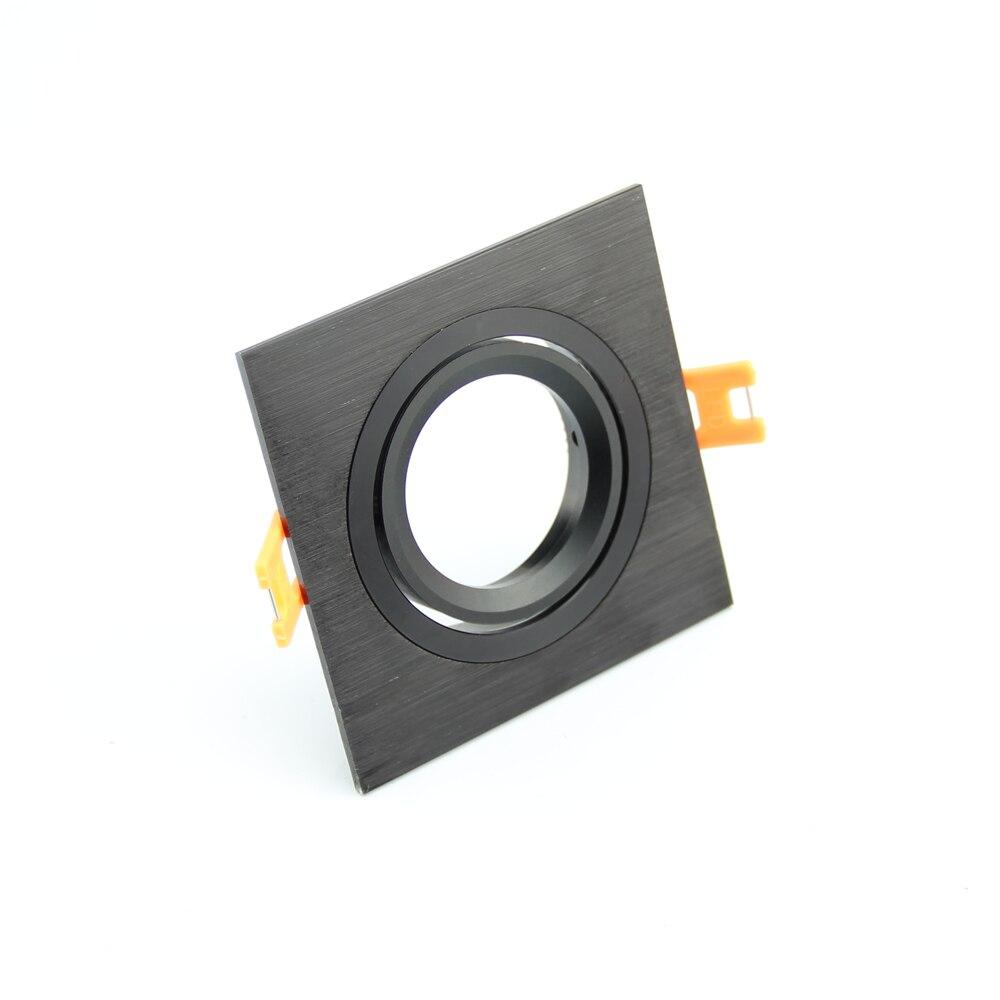 10pcs Square Black/Silver Color Halogen Led Spotlights Frame DC12V MR16 Socket Spot Lamp Fittings