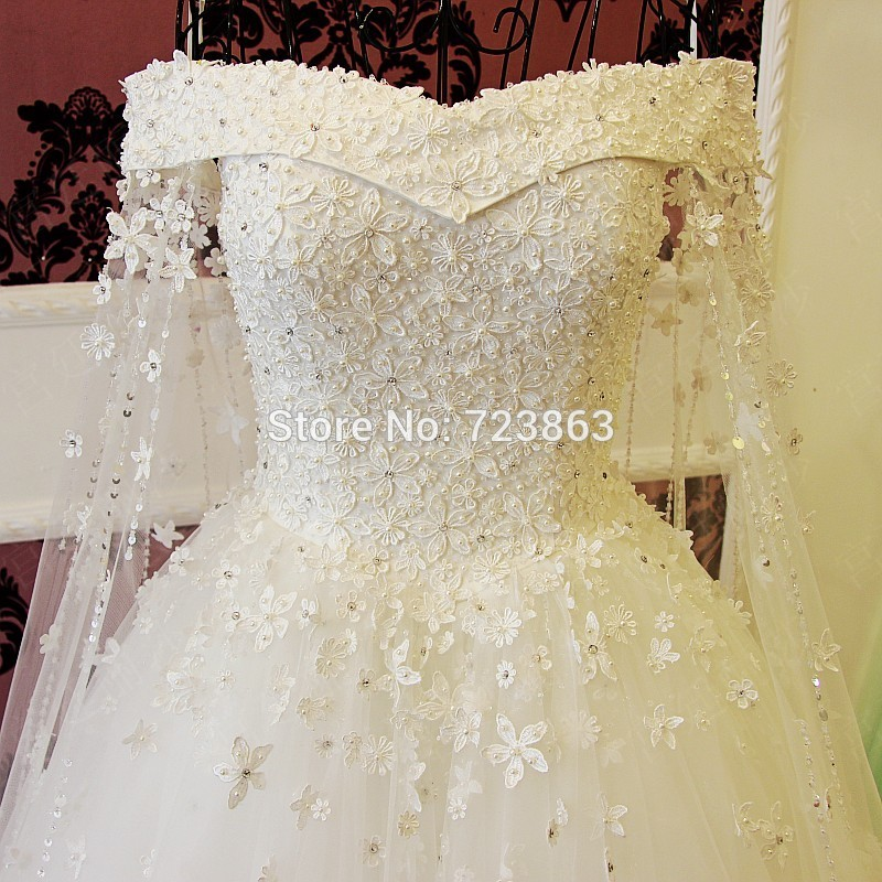 Romantic Lace Vintage Wedding Dress Turkey Gelinlik Brautkleid New ...