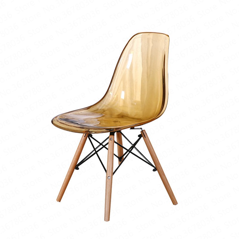 European Style Dining Chair Simple Modern Creative Crystal Chair Fashion Creative Transparent Chair Designer Chair Coffee Chair(China)
