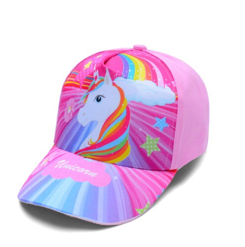 Baby Girl Hat Cap Accessories For 3-8 Years Girls Unicorn Baseball Cap Summer Sun Truck Hat Cap For Kids Children