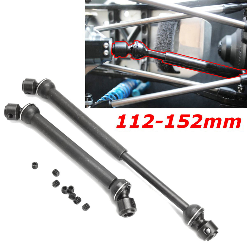 2Pcs Heavy Duty Steel Drive Shaft For Axial SCX10 Wraith Shaft Support With Scre