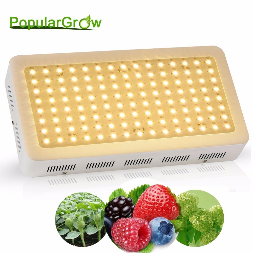 Populargrow 600 w phyto-lampe pour plantes de spectre complet pour la culture hydroponique intérieure à effet de serre Croître Tente/boîte substitut la lumière du soleil