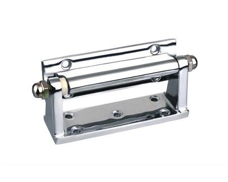 Zinc alloy rotating convex exposed door hinge industrial equipment refrigerator door hinge square