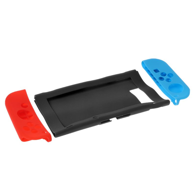 11 in 1 Silicone Case for Nintend Switch NS Console JoyCon Protective Skin Cover With Thumbstick Grips Stick Grip Caps in Replacement Parts Accessories from Consumer Electronics