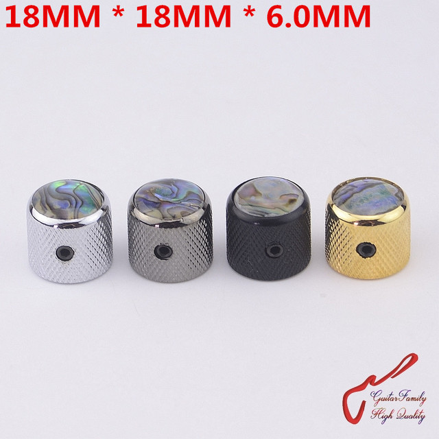 1 Piece GuitarFamily  Metal Knob Abalone Inlay For Electric Guitar  Bass   MADE IN KOREA   18MM*18MM*6.0MM  ( #1254 )