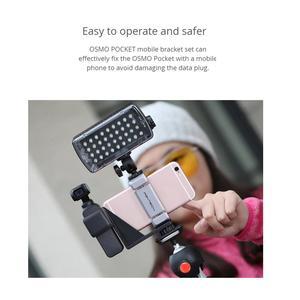 Image 3 - PGYTECH حامل هاتف مجموعة قوس المحمول حامل اكسسوارات كاميرا ذات محورين هود استقرار ل DJI oomo جيب كاميرا الملحقات