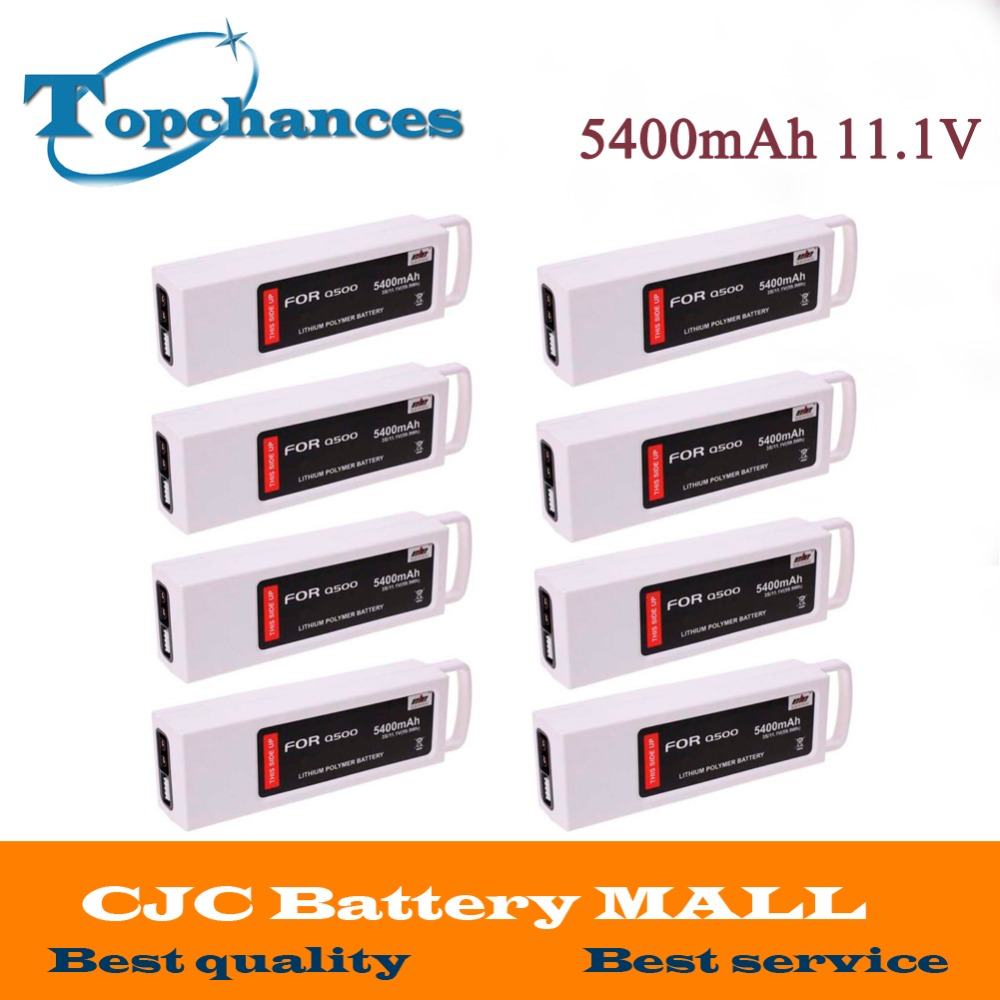 8x 5400mAh 11.1 Volt Lipo Battery For Yuneec Q500 Series RC Drone 11.1V 3S/3Cell yuneec q500 typhoon quadcopter handheld cgo steadygrip gimbal black