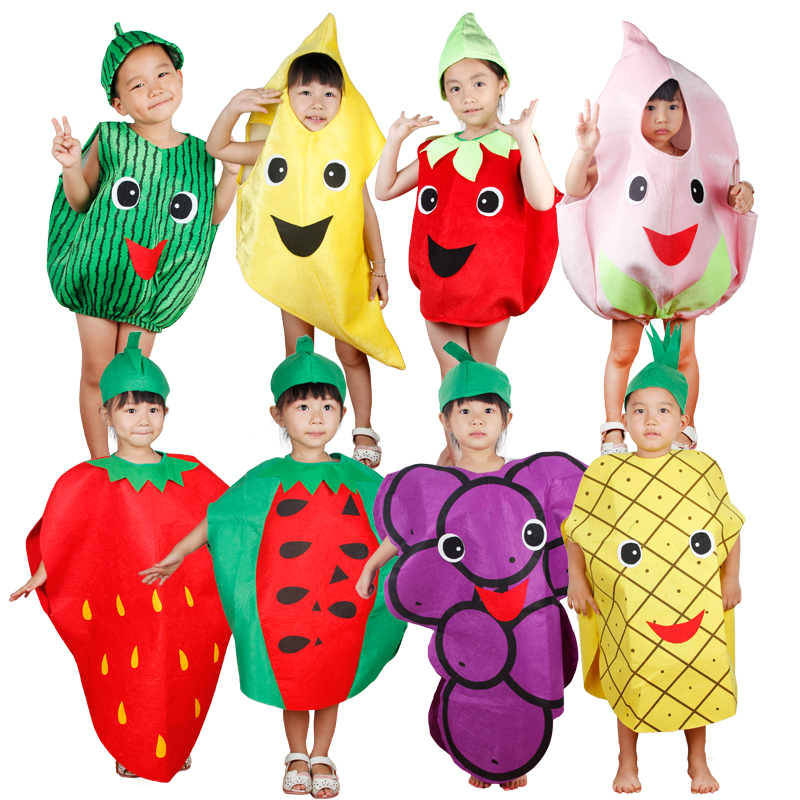 Free shipping fruits and vegetables children clothes cosplay - Festive and Party Supplies
