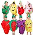 O envio gratuito de frutas e legumes crianças roupas cosplay masquerade performances trajes realizando adereços atividades do partido
