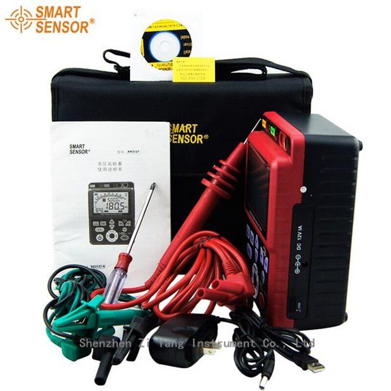 AR3127 digital high voltage insulation resistance tester 5000V megger shake table electronic table 0.0 99.9G ohm resistor