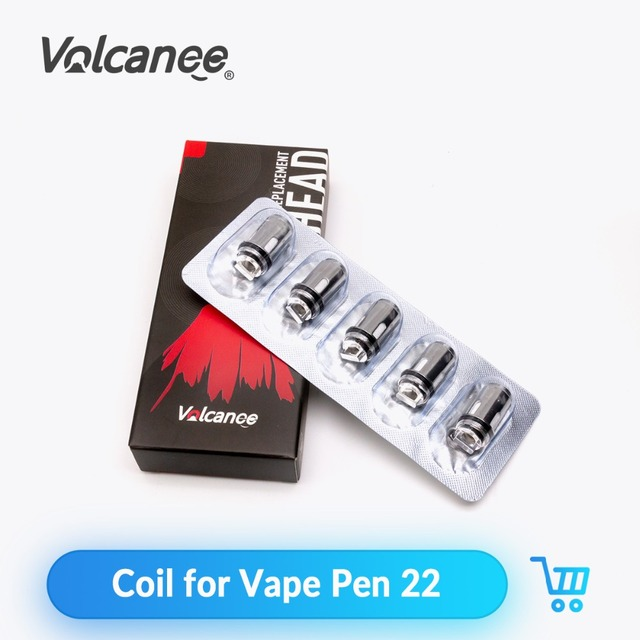 Volcanee 5pcs Vape Pen 22 Coil Replacement 0.3ohm 0.15ohm For Vape Pen 22 Tank RTA Atomizer E Cigarette Mesh Coils Vape Core