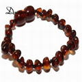 DUOYING Brand 5 Colors 14cm 18cm 20cm Custom Lovely Bracelet Gift Certificate Natural Baltic Ambar Stone Jewrlry For Baby Adult