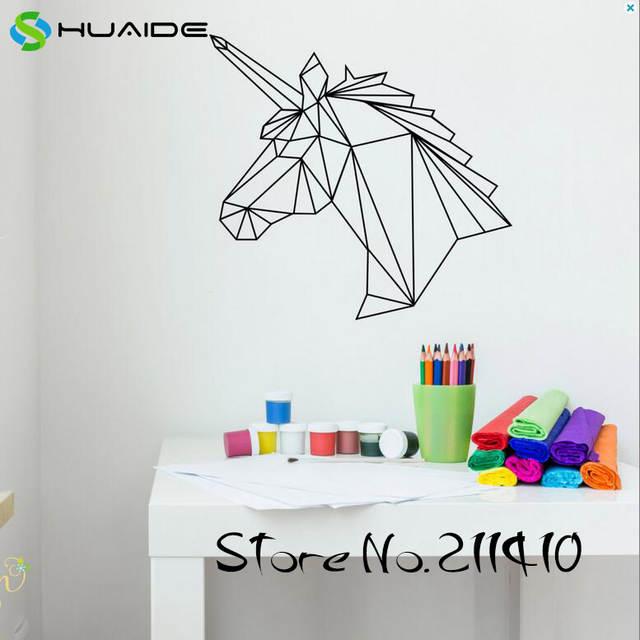online shop unicorn wall decal geometric wall decal nursery kids