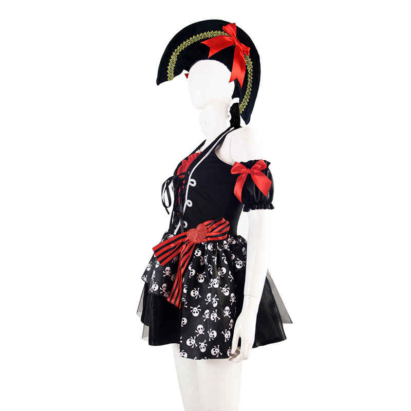 Plus Szie XL New Halloween Carnival Pirate Costume Adult Women Sexy Matador Pirate Captain Cosplay Costume With Hat High Quality