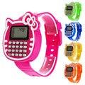 Дети Силиконовые Спортивные Часы Мальчики Girsl Relogio Часы Дата Многофункциональный Дети Калькулятор Наручные Часы