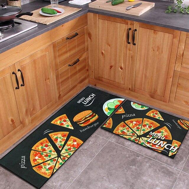2 unids cocina Esterillas set antideslizante alfombras de piso ...