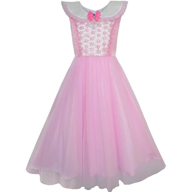 Sunny Fashion Vestidos niña Rosado Princesa Disfraz Cenicienta Lujoso  Cumpleaños Pelota 48df9090383