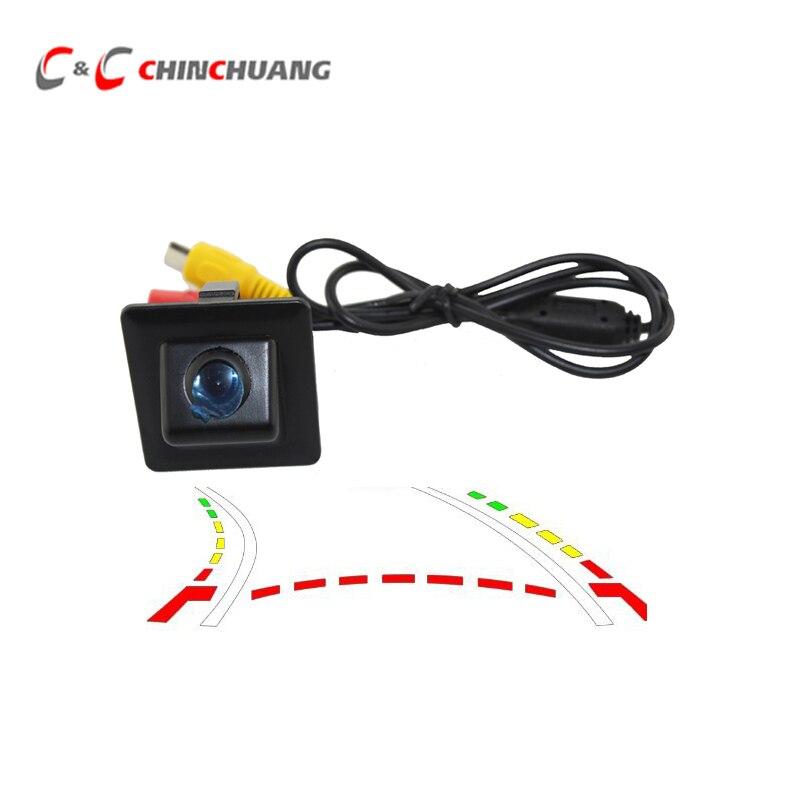 Dynamic Trajectory Tracks ! Car Rear View Backup Camera For Toyota Prado 150 Rearview Waterproof Reverse Parking Assistance