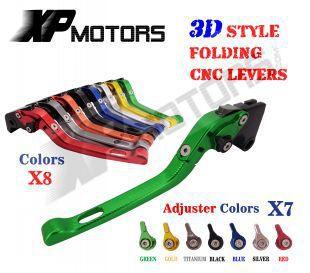 CNC 3D Feel Folding Brake Clutch Lever For Yamaha FJR1300 XJR1200 XJR1300 YZF750 R/SP FZR1000 EXUP YZF1000 FJ1200 No ABS cnc billet adjustable long folding brake clutch levers for yamaha xtz 1200 10 14 xjr 1300 fjr 1300 04 14 05 07 supertenere 12 14
