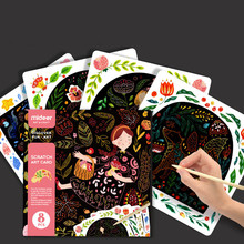 Magic Color Scratch Art Paper Coloring Cards Available Scraping Drawing Gift Toys For Children Painting Book Learning Education