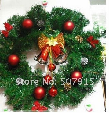 Us 42 81 Wholesale 50cm Christmas Wreath Thick Christmas Decoration Christmas Garland Ornaments Escw 2 In Artificial Dried Flowers From Home