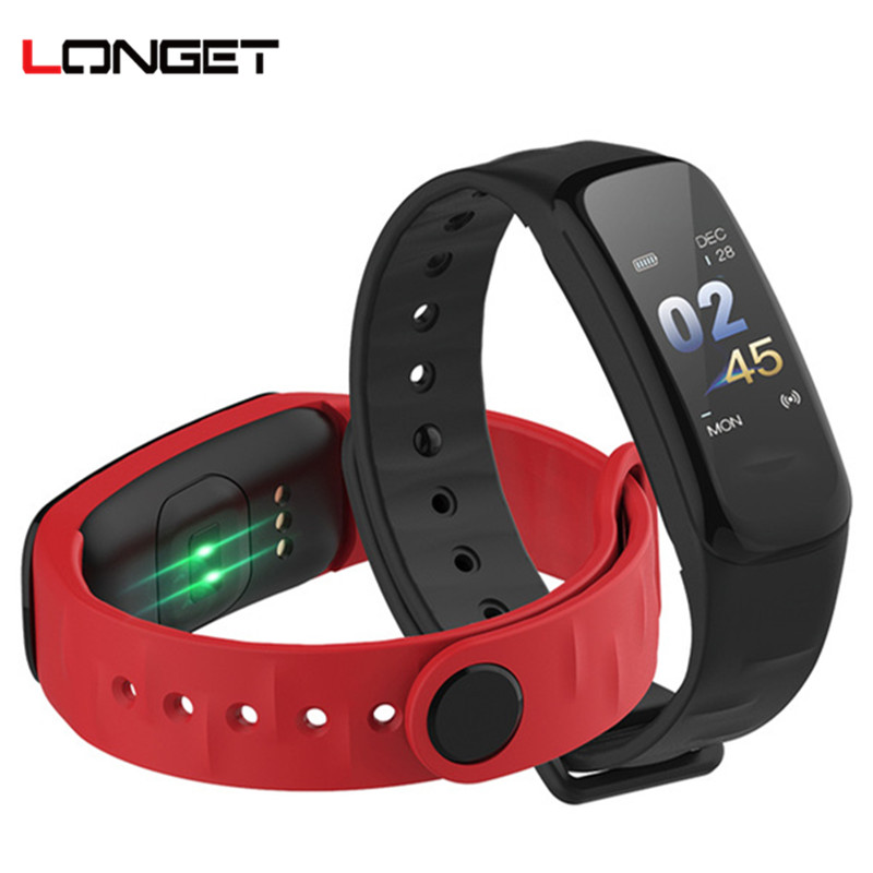 Longet C1s Fitness Tracker Color Screen Smart Bracelet blood pressure Heart Rate Monitor sleep tracker Wristband For Android IOS все цены
