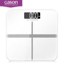 GASON A1 White Bathroom Floor Scales Smart Household Electronic Digital Scale Body LCD Display Division Value 180kg=400lb/0.1kg