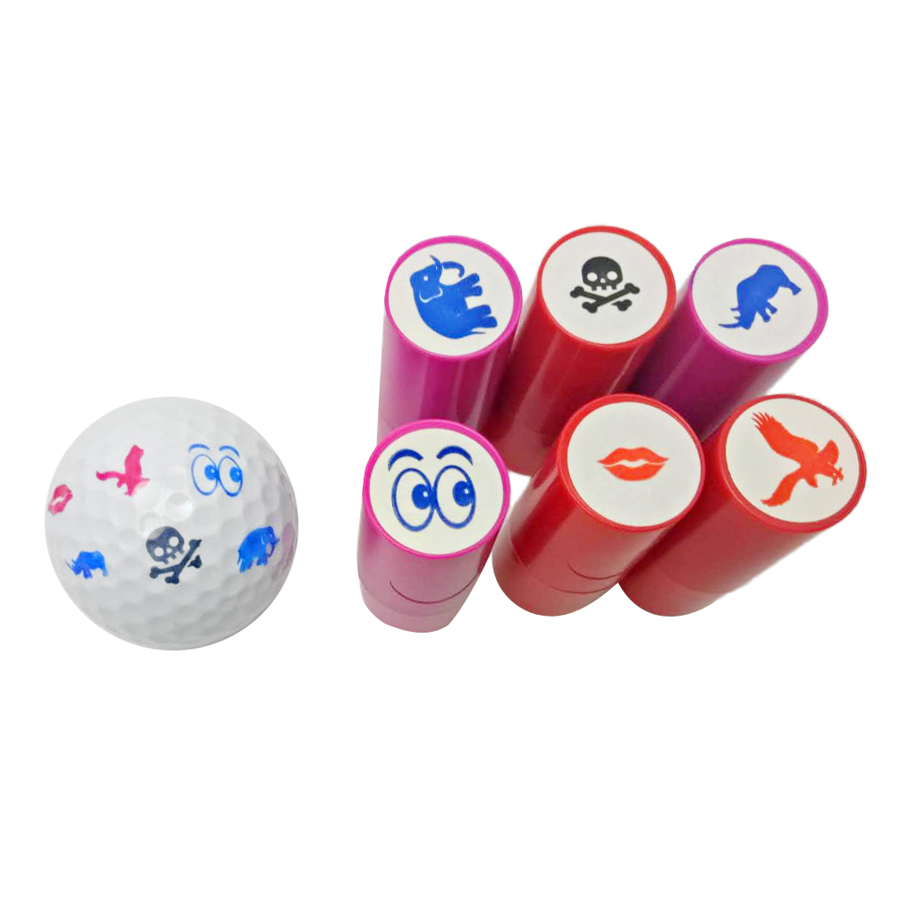 Quick-dry Golf Ball Stamp Stamper Skull Eyes Lips Marker Seal Impression ABS Plastic Golf Ball Stamper Stamp Golf Ball Marker