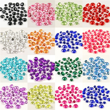 1000 Pcs 6mm Decoration Acrylic Rhinestone Austria Crystal Beads Loose  Beads Jewelry Making Faceted Bulk( 138617edb13a