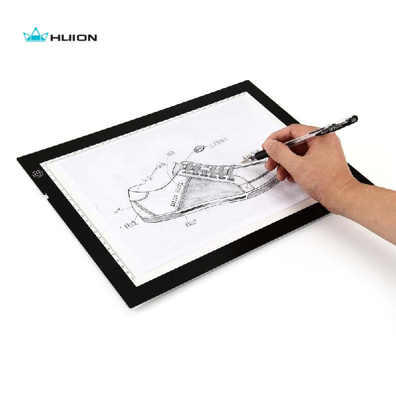 Huion A4 17.7 Inch LED Artcraft Tracing Light Drawing Pad Stencil Trackpad Box Super Bright with Adjustable Light Intensity canoeing recreational stencil 22 inch 60 mil ultraflex ind