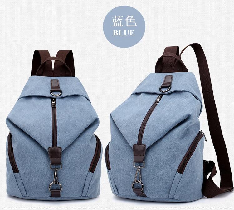 QINRANGUIO Women Backpack Fashion Canvas Backpack Large Capacity School Bags for Teenage Girls Backpack Female Backpack Women